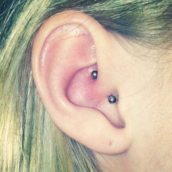 Daith Piercing at Hippie Hoops and Holes Body Piercing studio, Nampa Idaho
