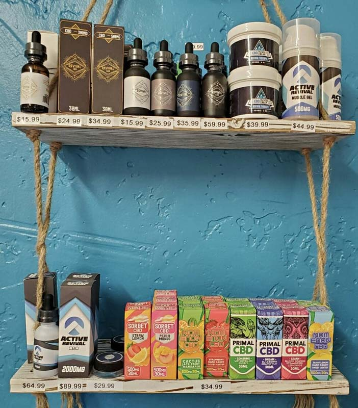 CBD Products at Hippie Hoops and Holes Body Piercing studio, Nampa Idaho