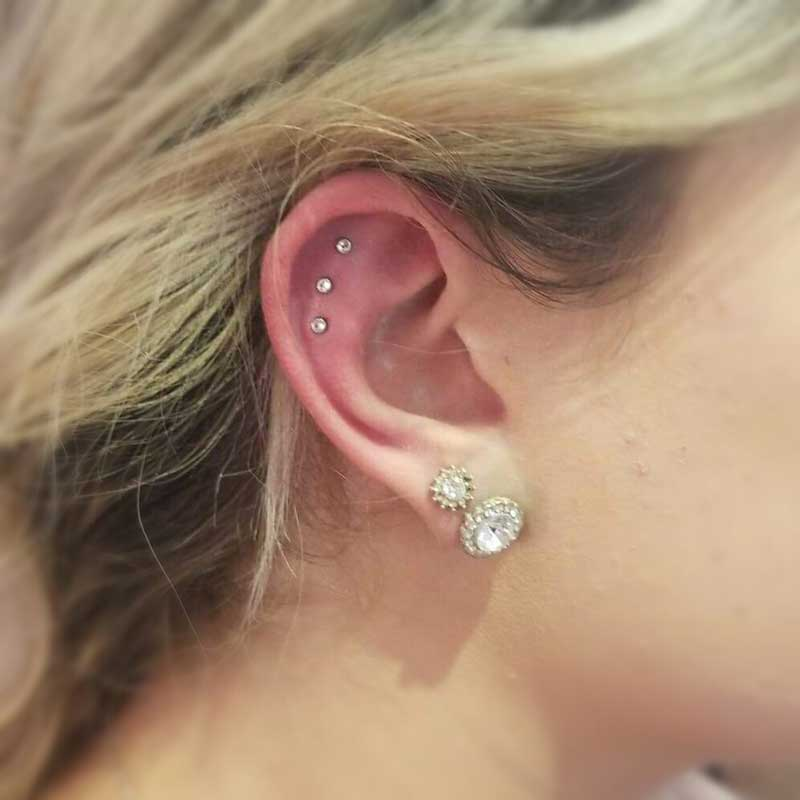 Flat Piercing at Hippie Hoops and Holes Body Piercing studio, Nampa Idaho