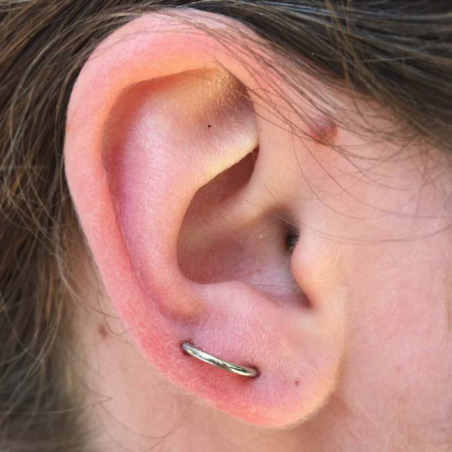 Orbital Piercing at Hippie Hoops and Holes Body Piercing studio, Nampa Idaho
